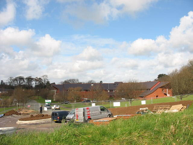 A construction site at Parc Menai Business Park
