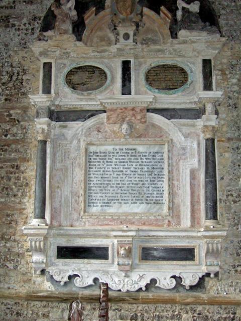 Wall Memorial in Glanvilles Wootton Church