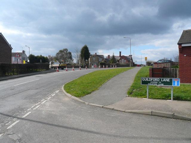 Danesmoor - Junction of Guildford Lane with Pilsley Road