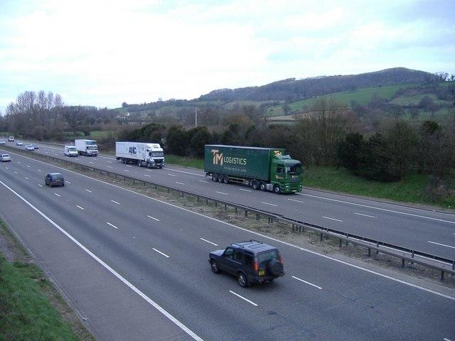 The M5 motorway, near Upper Wick