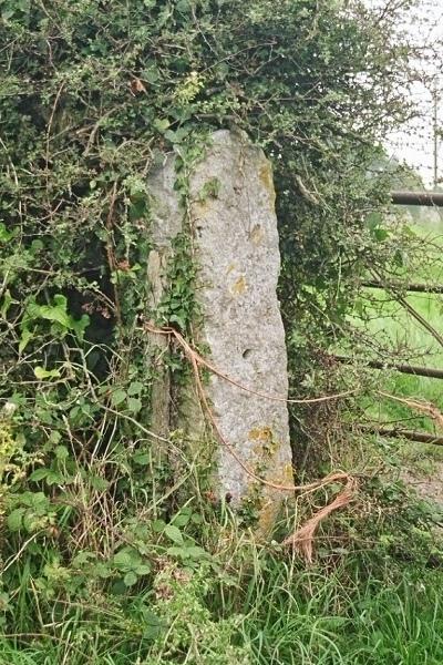 Stone gatepost on Bannel Lane (now public footpath)