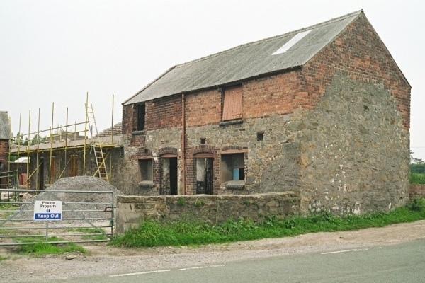 Farm buildings on A549 near Dobs Hill