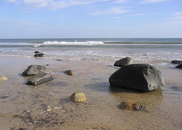 The shore on Warkworth Beach