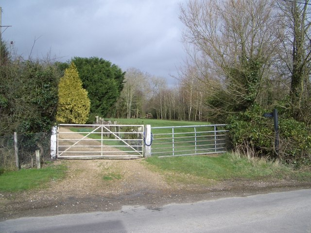 Public Footpath Leading Northwards from Chilsham