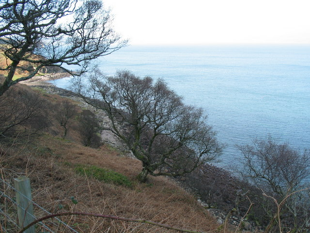 Learside road coastline scene.
