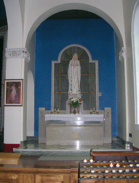 Our Lady's Altar, St Peter's Church - Leeds Road