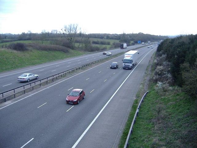 M5 motorway, looking south
