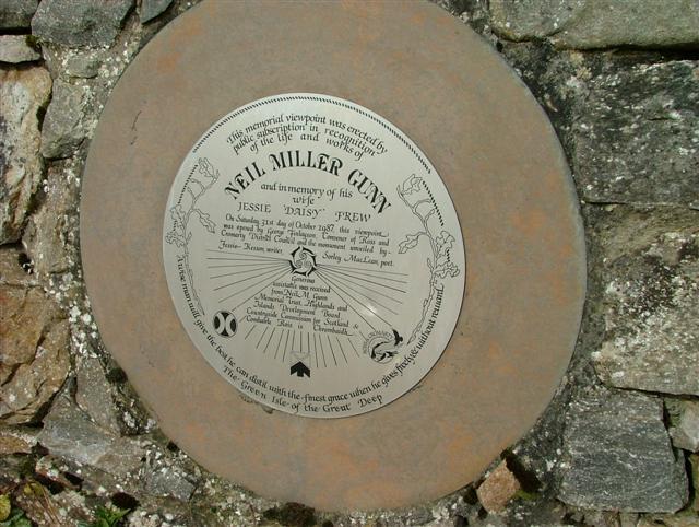 Neil Miller Gunn Memorial Plaque