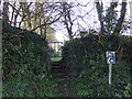 SW6922 : Footpath straight on by Jonathan Billinger