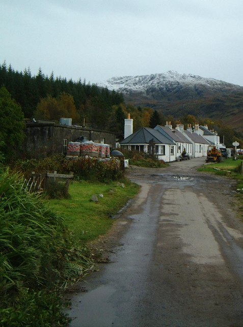 Looking towards Inverie from the village school.