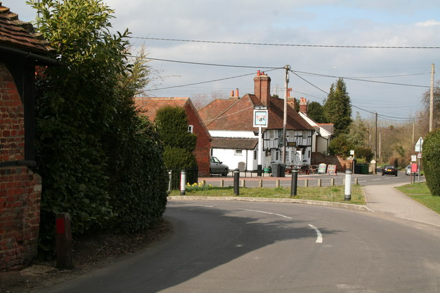 Junction of Milking Pen Lane with The Street, Old Basing, Hampshire