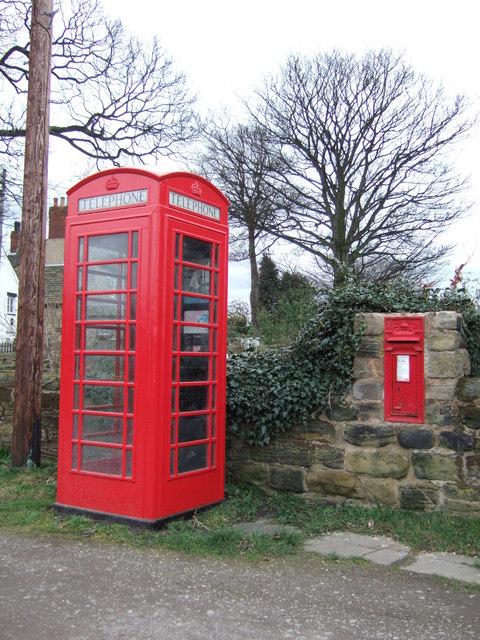 Phone Box and Postbox at Heath