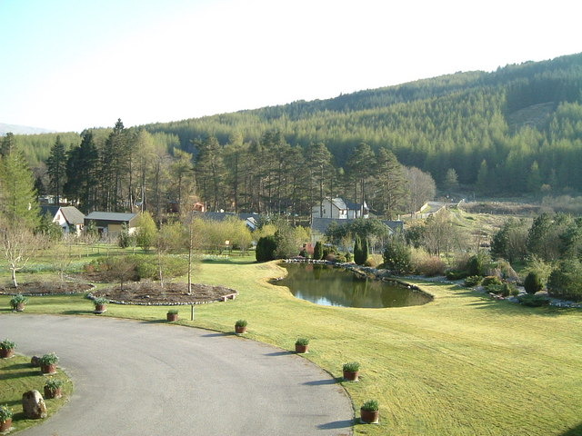 Hotel grounds and view Tyndrum