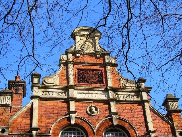 Former Clarence Street School, Swindon, western elevation