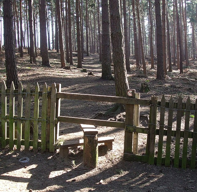 Stile into New Wavendon Heath