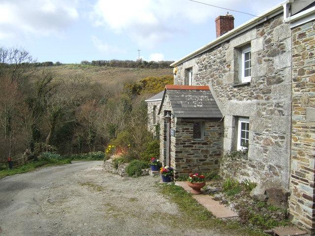 Stone cottage by Treworgie Lane