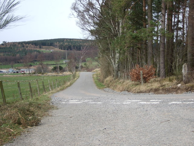 Road junction at Craigmyle