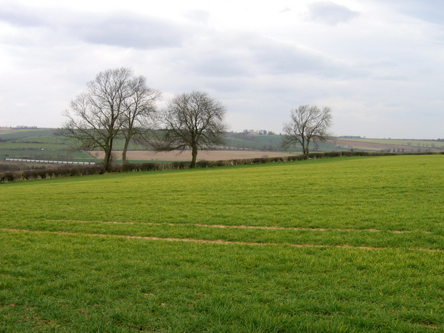 View across Welland Valley to The Rookery