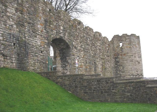 The North Gate of Caernarfon's town wall