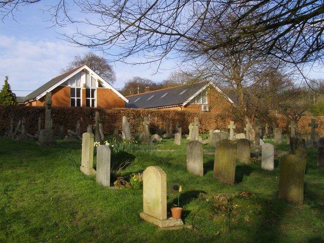 All Saints' school and churchyard, Compton