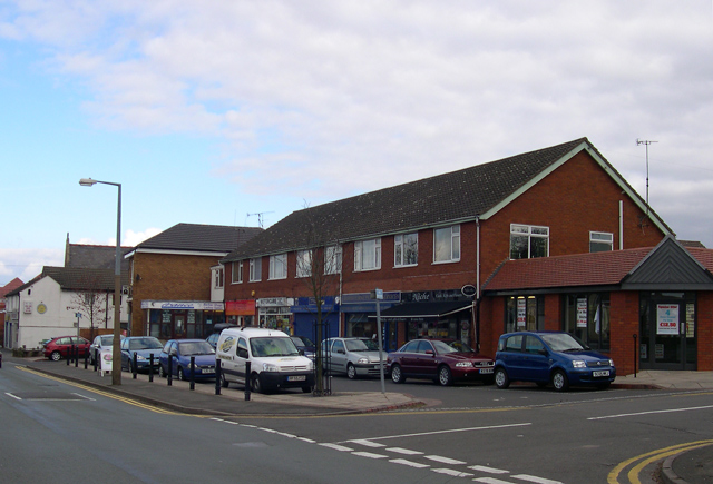 Local shops, Common Road, Wombourne, Staffordshire