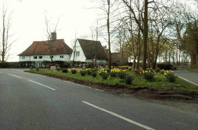 A road junction at Little Sampford