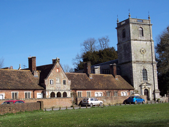 Wimborne St Giles Church and Almshouses
