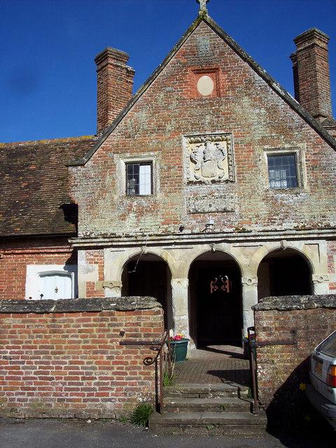 Almshouses, Wimborne St Giles - detail