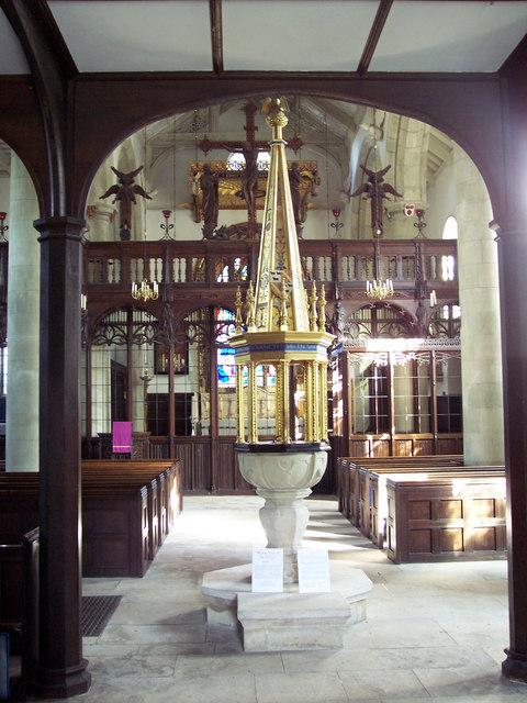 Wimborne St Giles Church - Font