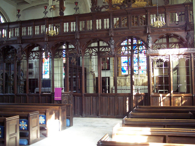 Wimborne St Giles Church - Rood Screen