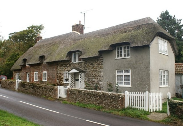 Cottages opposite the lane to Cockles