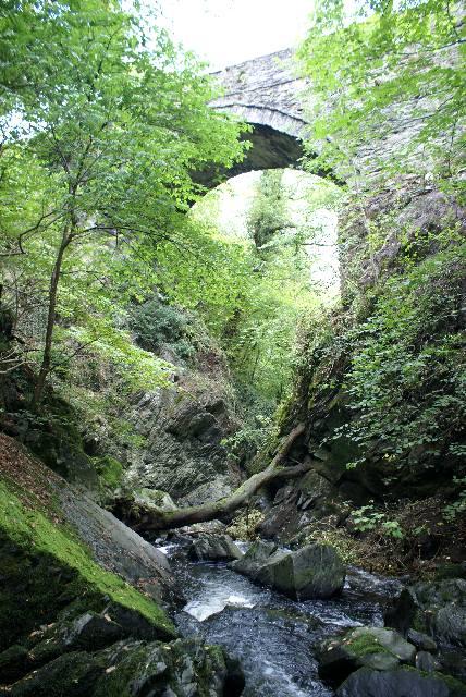 Pont-y-glyn from below - Tithe Martyr's Memorial bridge