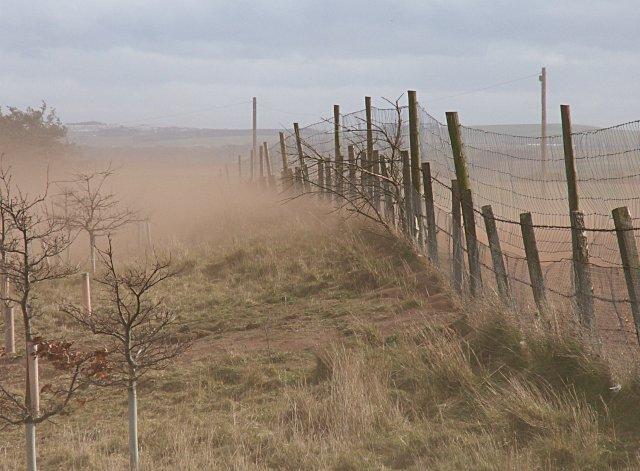 Soil erosion, brownout