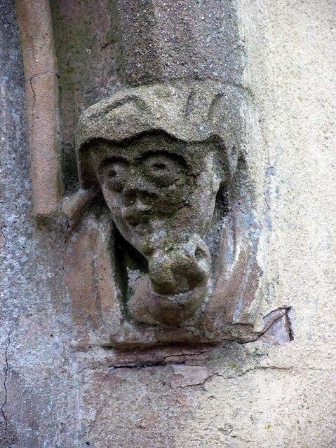 St Andrew, Bramfield, Herts - Label head