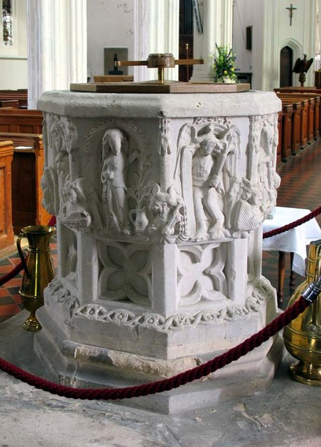 St Mary, Ware, Herts - Font