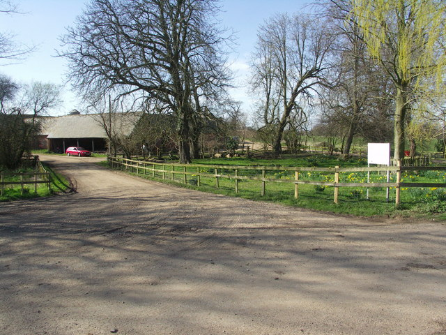Entrance to Knighton Farm