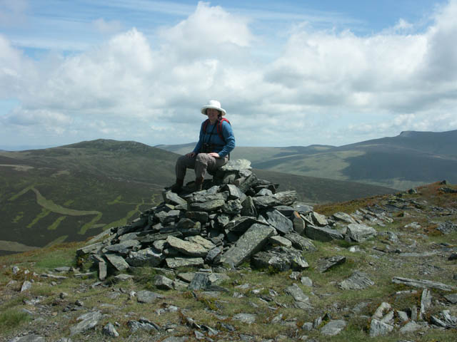 The summit cairn on Bakestall (673m)