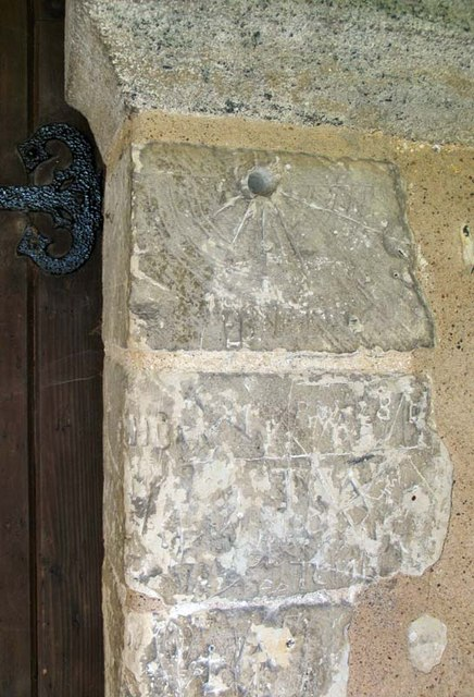 St Mary, Little Hormead, Herts - Mass dial