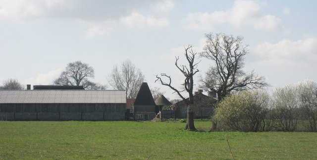 Unconverted Oast House at Great Omenden Farm, Pook Lane, Smarden, Kent