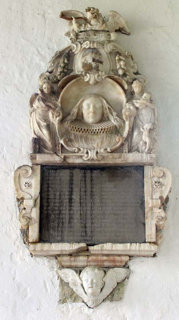 St Andrew, Buckland, Herts - Wall monument