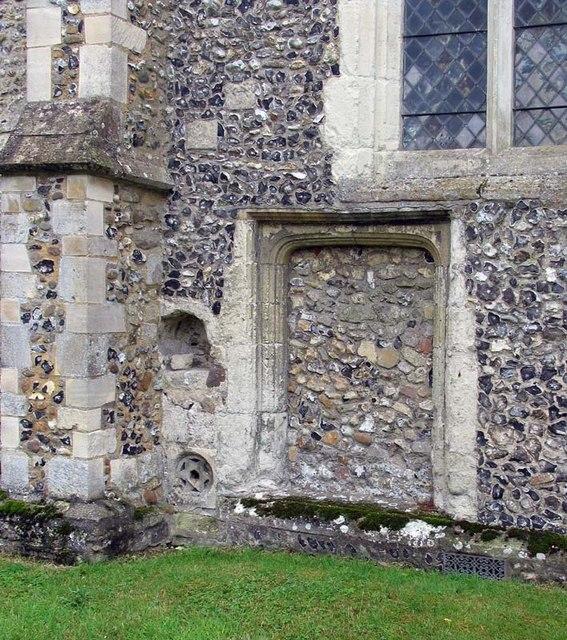 St Andrew, Buckland, Herts - Blocked doorway