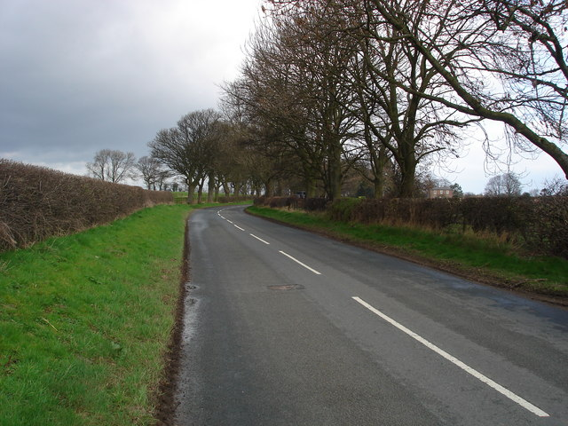 The approach to Warlaby