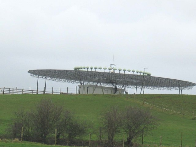 UFO? Aircraft landing system for Machrihanish Airport.