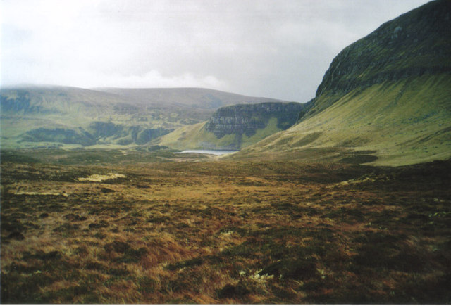 Moorland in March, Loch Sneosdal in the distance
