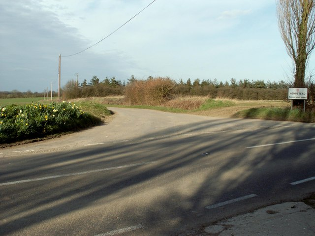 Road junction at Hempstead