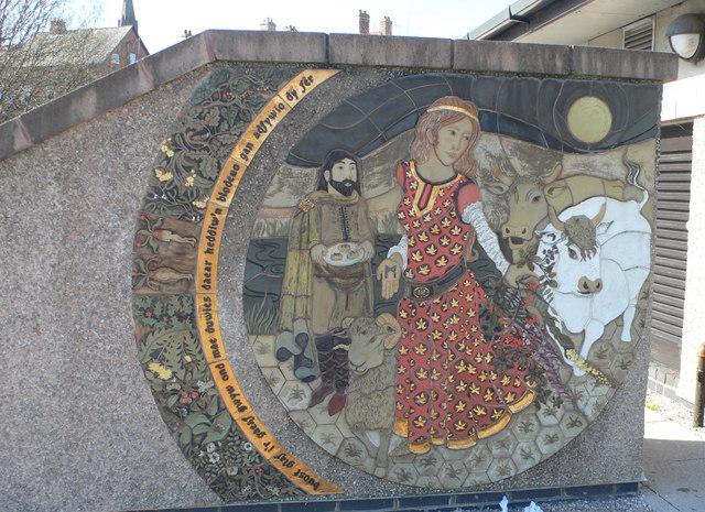 Mural at Plas Meddyg