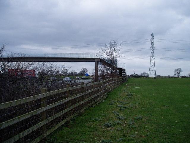 M6 Motorway through Cheshire
