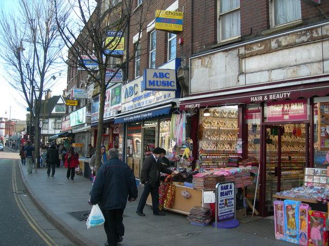 Pavement on The Broadway, Southall