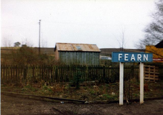 Fearn Station - Far North Line - 1976