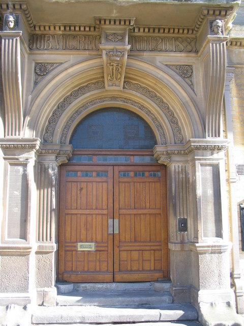 Jubilee doorway at the Town Hall, Trowbridge